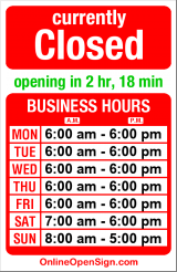 Business hours for Caffe Umbria
