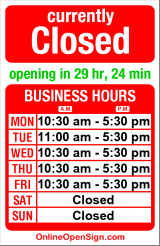 Business hours for Something Old Something New