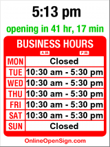 Business hours for Greg Kucera Gallery