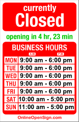 Business hours for Seattle Lighting Fixture