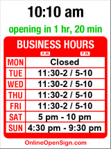 Business hours for Al Boccalino