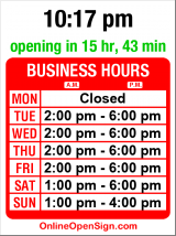 Business hours for Space Oddity Vintage Furniture