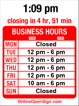 Business hours for Lasley & Russ Violins