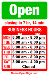 Business hours for Motore Coffee