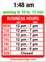Business hours for Bass Northwest