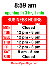 Business hours for Robert W Hass Salon