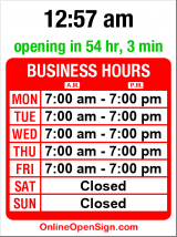 Business hours for Action Reaction Physical Therapy