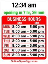 Business hours for PCC Co-op Office
