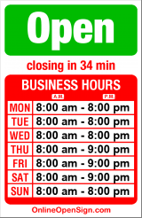 Business hours for Cupcake Royale