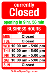 Business hours for Steven Fey Photography Gallery