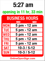 Business hours for 22 Doors