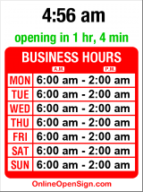 Business hours for Baranof Lounge