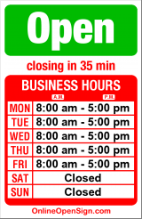Business hours for Trinity/ERD