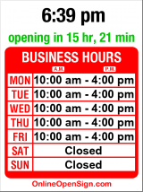 Business hours for Asia Ginger