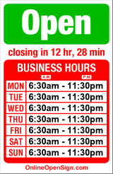 Business hours for Chocolati Cafe