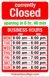 Business hours for Alaskan Sourdough Bakery