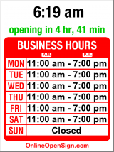 Business hours for Da Pino