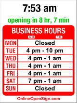 Business hours for Ibiza Dinner Club