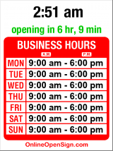 Business hours for Beecher's Handmade Cheese