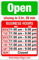 Business hours for Istanbul Cafe