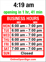 Business hours for Mokas Cafe & Coffee Bar