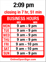 Business hours for Saigon Bistro