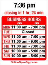 Business hours for Rub A Dub Dog