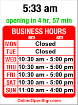 Business hours for Fairlook Antiques