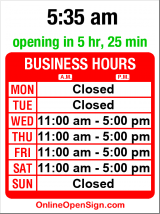 Business hours for G Gibson Gallery