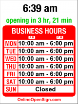 Business hours for Emerald City Guitars