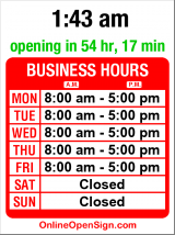 Business hours for Argen's Safe & Lock