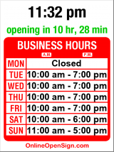 Business hours for The Gilt Edge Society