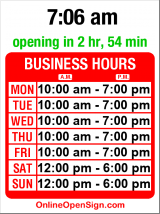 Business hours for Quizno's Subs