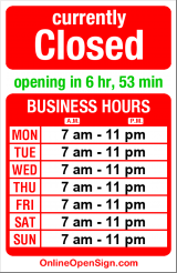 Business hours for Remedy Teas