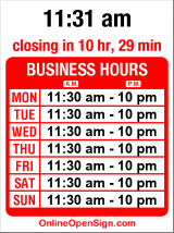 Business hours for India Bistro