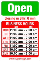 Business hours for Georgetown Liquor Company