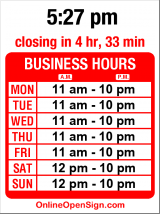 Business hours for Jhanjay Vegetarian Thai
