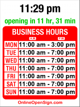 Business hours for Cafe Bonjour