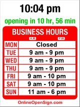 Business hours for I CANDI Studios