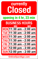 Business hours for Elysian Brewing Co