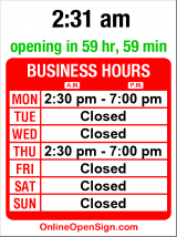 Business hours for Kumon of Seattle