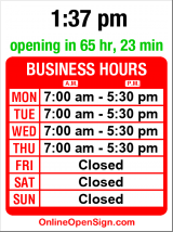 Business hours for Callahan Auto Rebuild