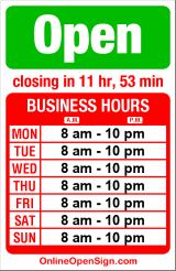 Business hours for Whole Foods Market