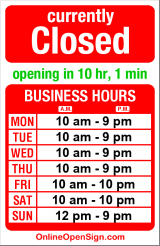 Business hours for Still Smokin