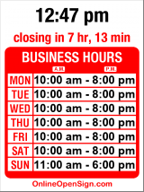 Business hours for City Home Store