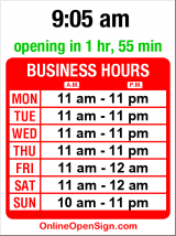 Business hours for Sonrisa Modern Mex
