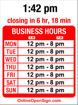 Business hours for Thrive!