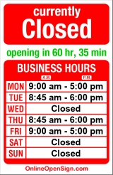 Business hours for Jacqueline Close MTCM L.Ac.