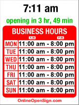 Business hours for 35th North