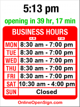 Business hours for Post Options Business Center